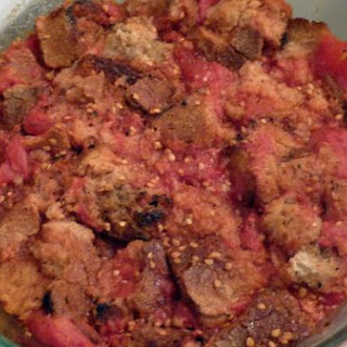 Stewed Tomatoes With Rustic Italian Bread