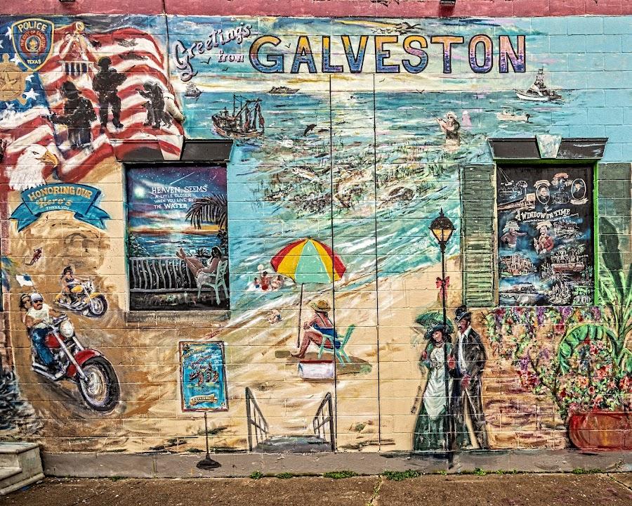 Galveston! by Richard Michael Lingo - Artistic Objects Signs ( artistic objects, signs, mural, texas, galveston )