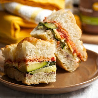 Grilled Vegetable Sandwiches with Fontina.
