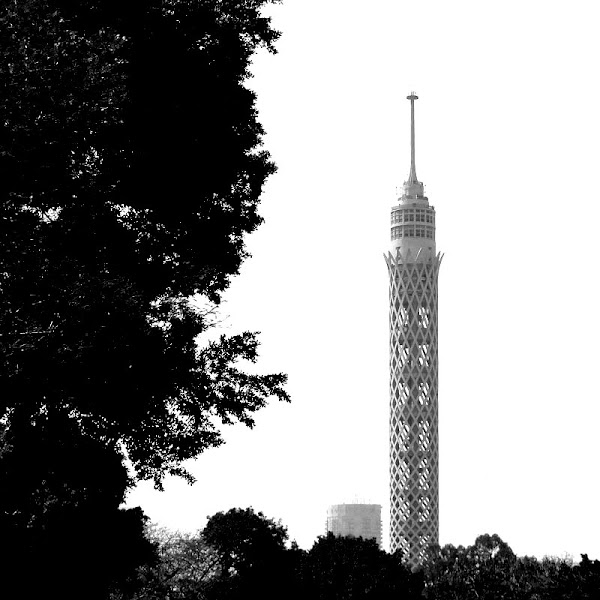 Photo: Day 116 G+ 365 Project : 25 April 2012 Cairo Tower My Town, Cairo, Egypt  #BlackandWhite this week's #365weeklytheme #365project  #egypt #streetphotography #cairo #tower