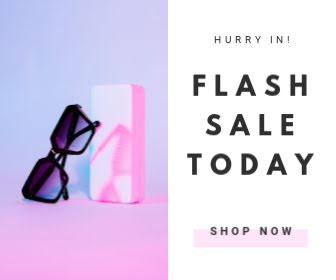 Flash Sale Today - Large Rectangle Ad Template