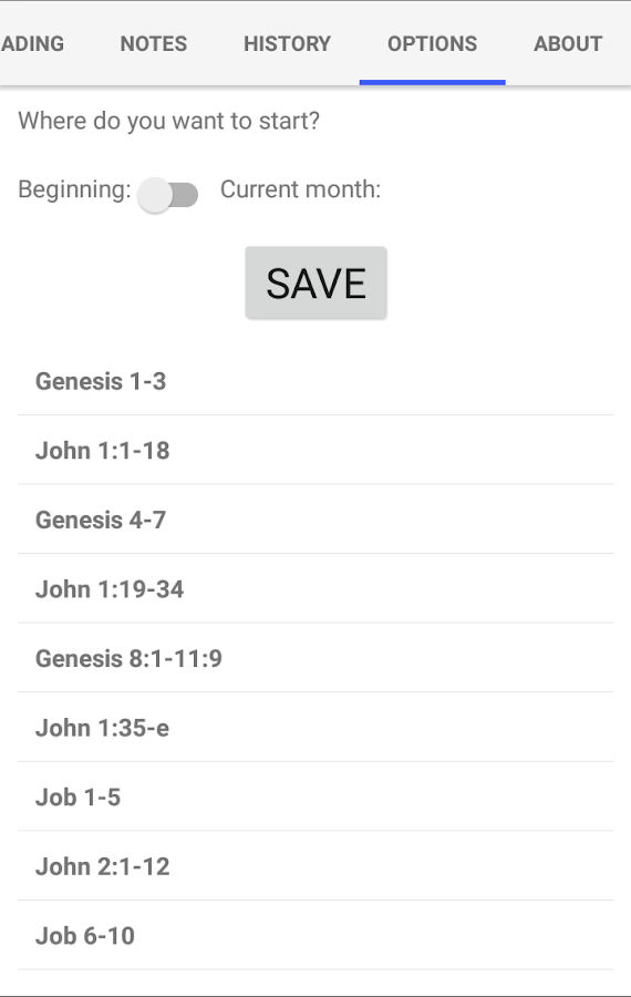 Bible Unity Reading Plan- screenshot