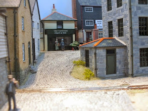 Photo: 021 Considering that Wherewithial Quay is only around 18inches or so square, the perspective in this well thought through scene is a triumph of John Bruce's artistic talent .