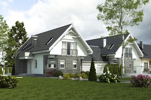 projekt Bolek II z garażem 1-st. A-BL