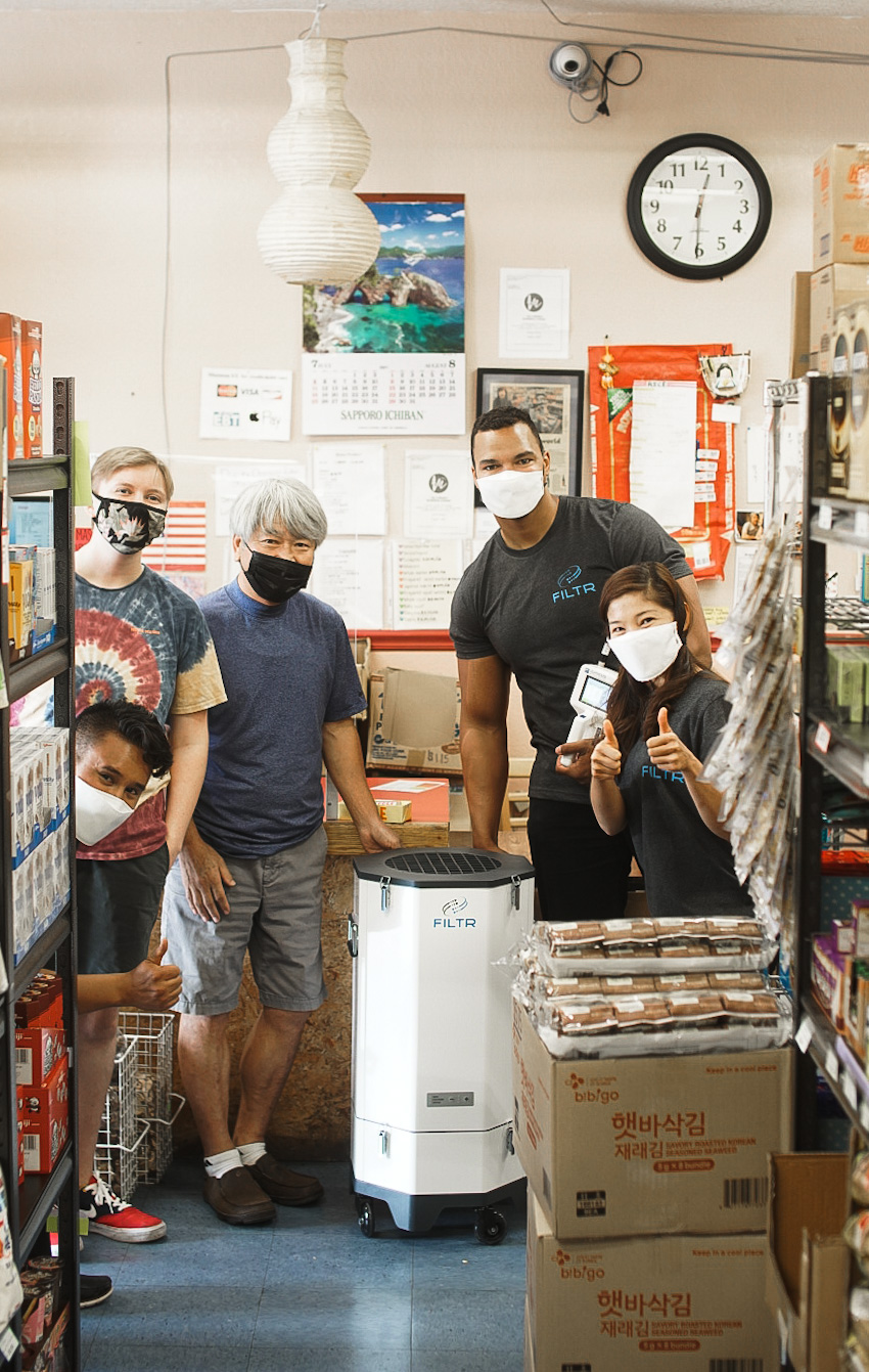 Lighthouse Worldwide Solution installed a cleanroom grade air purifier at the Asian Market Medford because of the poor air quality in Southern Oregon.