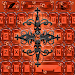 Orange Gothic Cross Keyboard theme Icon
