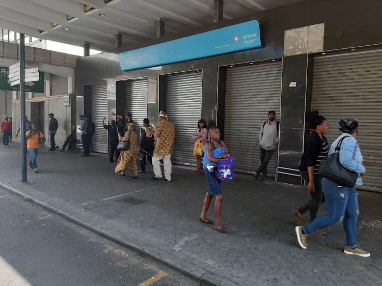 Commuters were stranded when the Western Cape's entire passenger train service was brought to a halt mid-afternoon on Thursday after Eskom cut power to Prasa, citing non-payment of accounts.
