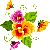 Pixel Art Flowers Color By Number