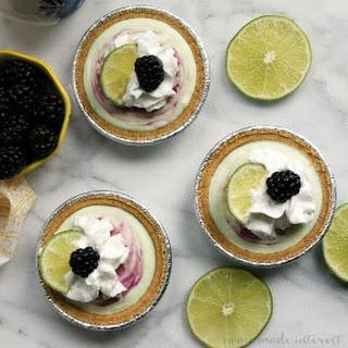 No Bake Blackberry Lime Frozen Mini Pies