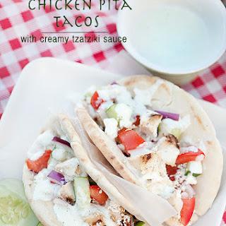 Mediterranean Chicken Pita Tacos with Creamy Tzatziki Sauce