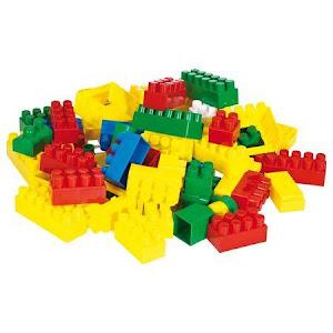 Set de constructie tip lego cu 350 piese