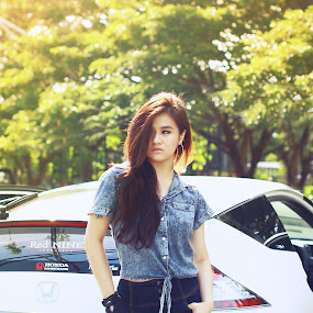 honda hybird by Andy Yusuf - People Portraits of Women ( girls with sports car )