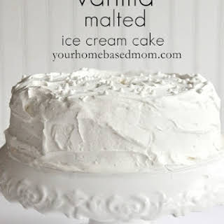 Vanilla Malted Ice Cream Cake.