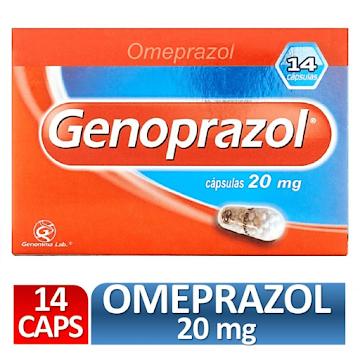 Omeprazol GENOPRAZOL 20mg Cápsulas Caja x14Cap. GENOMMA Omeprazol