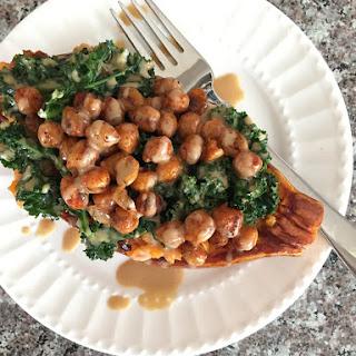 Spiced Chickpea and Kale Stuffed Sweet Potatoes Recipe