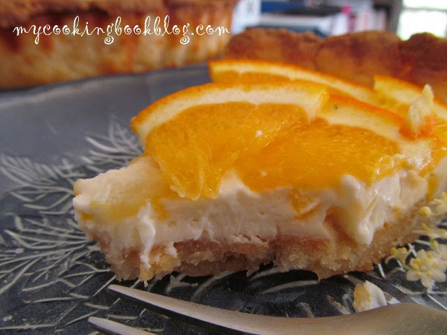 Тарт с крем от маскарпоне и портокали