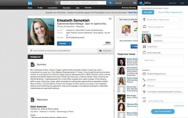 Jobrain LinkedIn Prospects