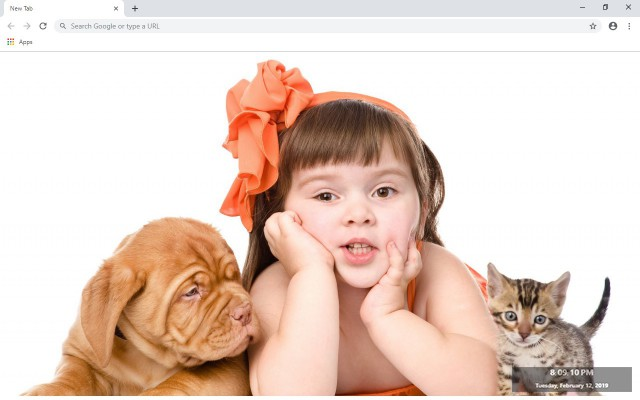 Cute Cats & Dogs New Tab