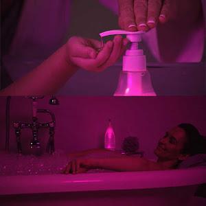Dozator de sapun cu lumina LED, 400 ml, senor de miscare