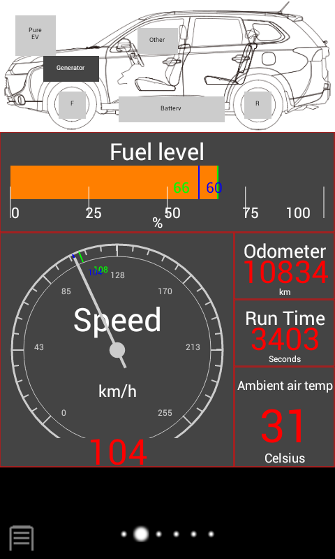 EvBatMon for Outlander PHEV- screenshot
