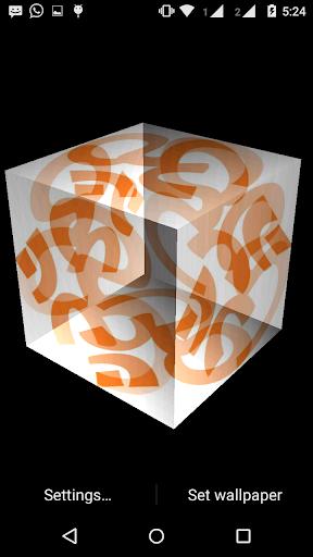 OM 3D cube live wallpaper