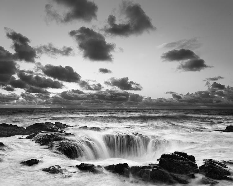 Photo: Into the Sea, Oregon Coast