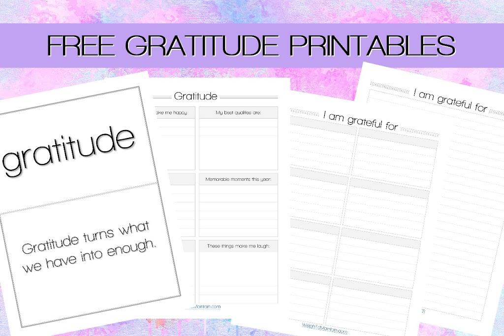 gratitude printables