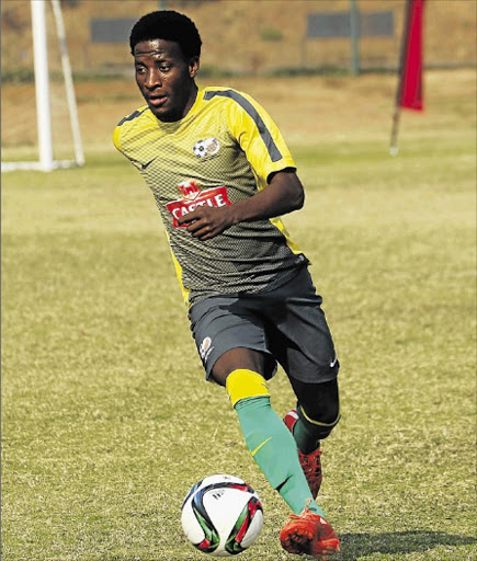 Gift Motupa during a Bafana training session in Durban Picture: GALLO IMAGES