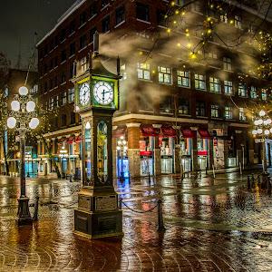 IMGL9744 edited,steam,clock,bricks,night,rain,lights,gastown,city,heritage.jpg