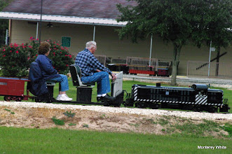 Photo: Virginia and Gil Freitag - taken of a moving train from a moving train.   2009-1127 HALS Anniversary Meet