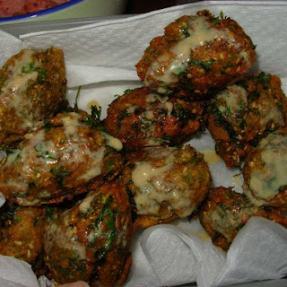 Falafel from scratch (Mediterranean chickpea patties)