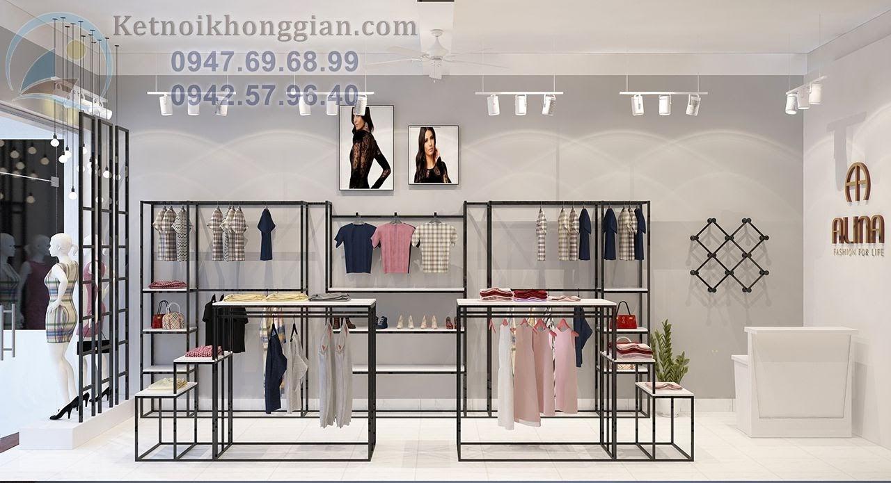 thiết kế shop thời trang công sở thông minh