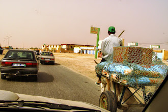 Photo: Traffic jam in Nouakcott