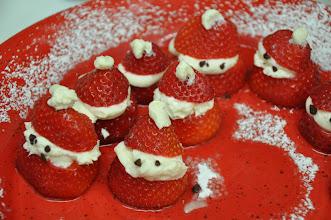 Photo: Rebecca made these delectable strawberry santas.