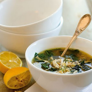 Chicken And Spinach Orzo Soup