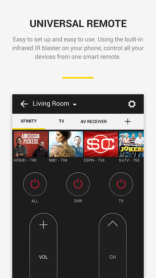 Peel Universal Smart TV Remote Control- screenshot