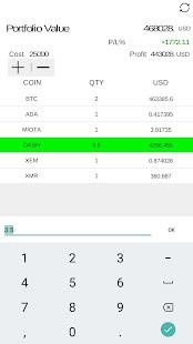 Crypto Coin Ticker - náhled