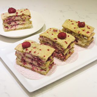 Nut Raspberry Layer Cake