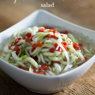 Spiral Cucumber and Onion Dill Salad