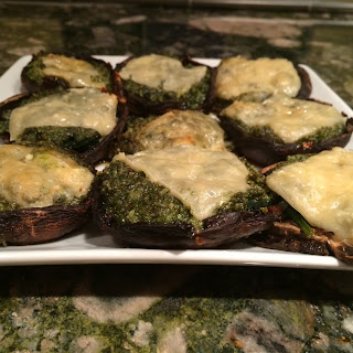 Pesto-Stuffed Portobello Mushrooms (video)