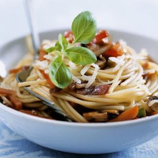 Vegetable and Mushroom Spaghetti