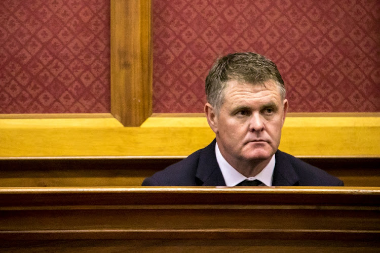 Property mogul Jason Rohde on the stand in the Cape Town High Court on May 29 2018. Rohde is accused of murdering his wife Susan.