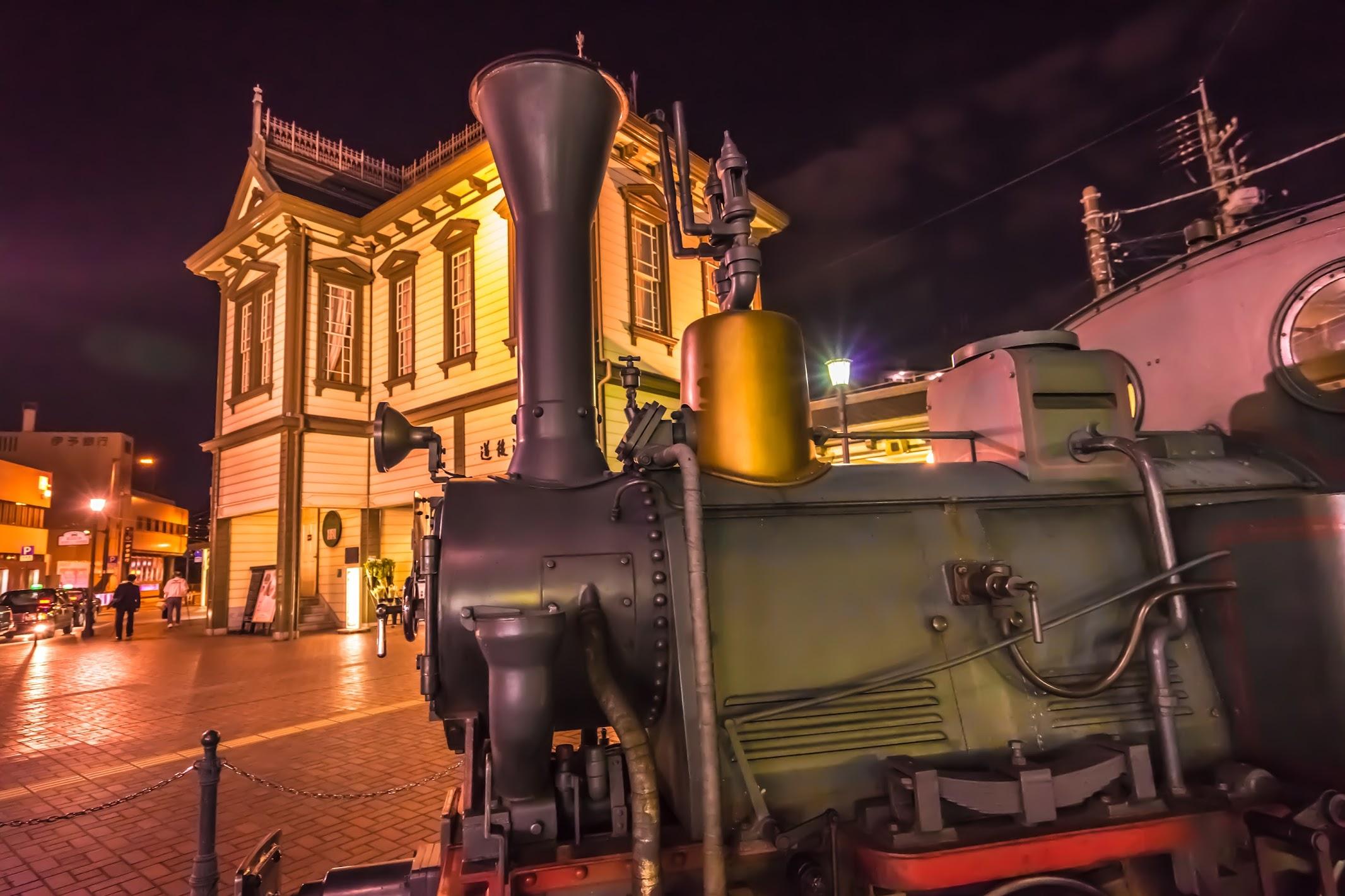 道後温泉駅 夜景(ライトアップ)2