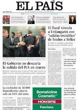 """Photo: En nuestra portada del martes 3 de enero: """"El Gobierno no descarta la subida del IVA en enero"""", """"La exclusión de 30.000 dependientes ahorra solo un 0,6% del coste"""" y """"El fiscal vincula a Urdangarin con 'salidas invisibles' de fondos a Belice"""". http://www.elpais.com/static/misc/portada20120103.pdf"""