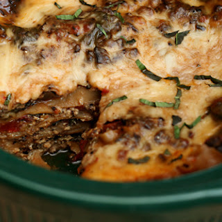 Slow Cooker Spinach Mushroom Lasagna (adapted from Cook's Illustrated's Slow Cooker Revolution)