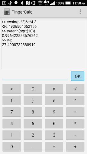 Tinger Calc  screenshots 1