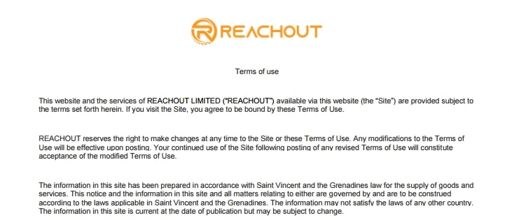 ReachOut: отзывы о сотрудничестве, обзор торговых условий