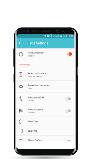 Smart Announcer : Call, Time  & Battery