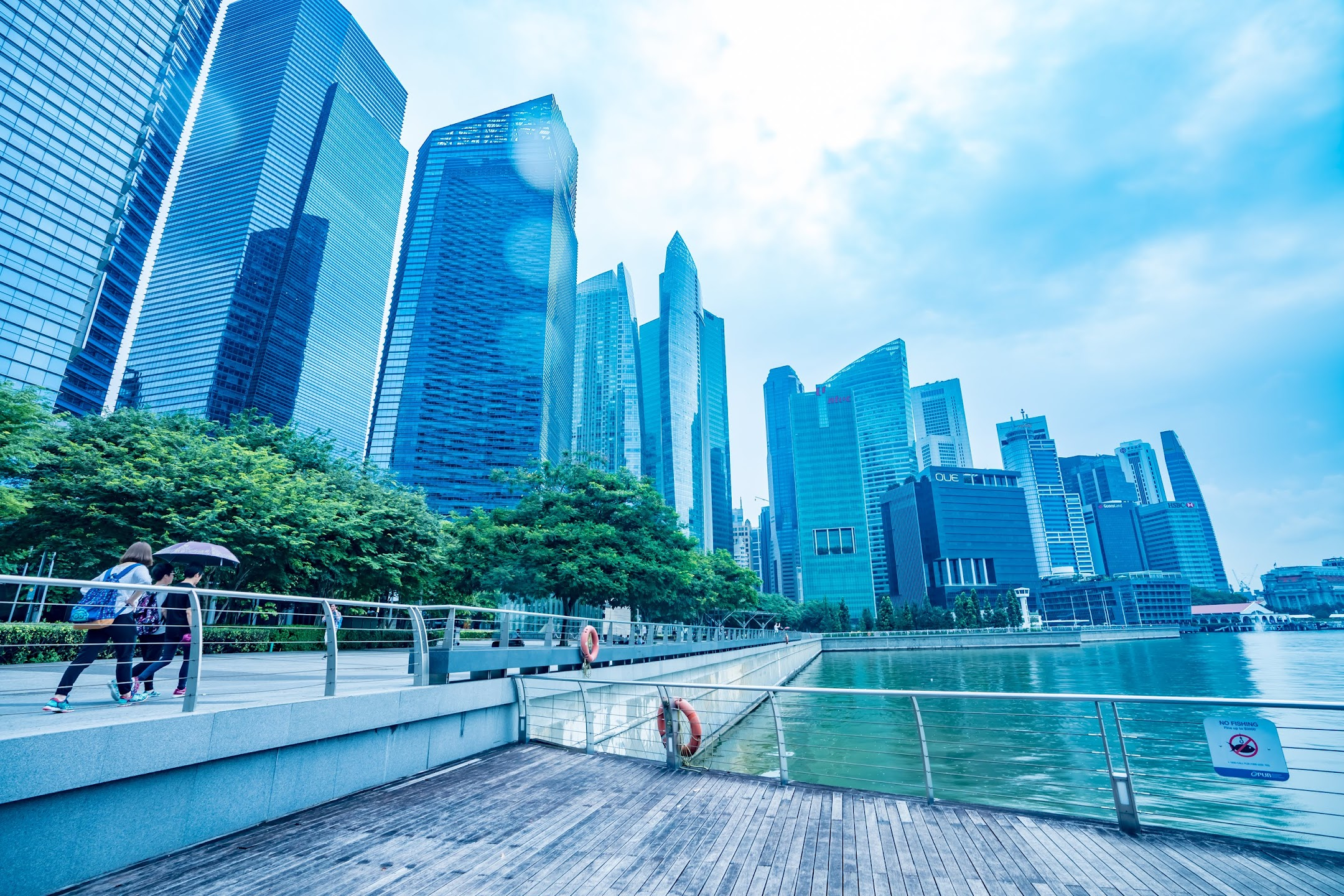 シンガポール Marina Bay Waterfront Promenade2