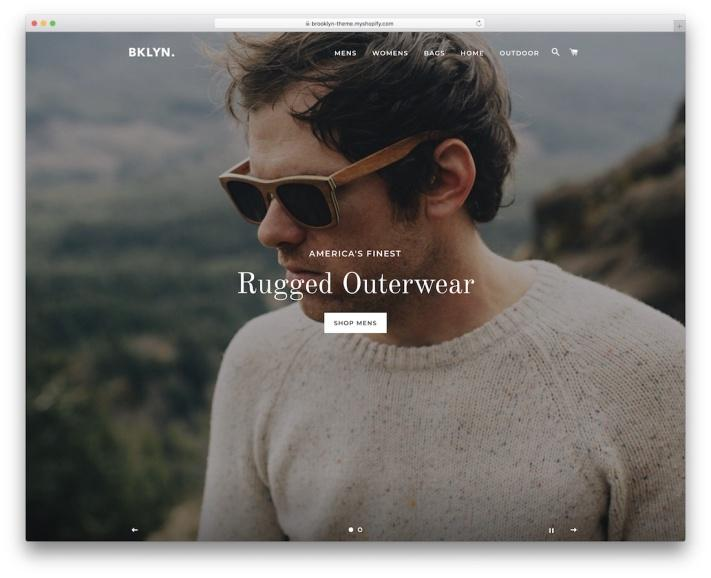 brooklyn free shopify theme